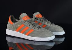 IT'S DIFFICULT TO GET ADIDAS ORIGINALS WRONG IF GREY IS CHOSEN AS THE PRIMARY COLOUR, AS THESE STUNNING GREY/TANGERINE SPEZIALS DEMONSTRATE