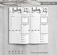 Manifestation Law Of Attraction Discover Printable Bullet Journal Inserts Midori Daily Spreadsheet Inserts Printable Midori Travelers Notebook Daily planner inserts PDF file Planner Pdf, Daily Planner Printable, Planner Inserts, Life Planner, Work Planner, Agenda Planner, Travel Planner, Weekly Planner, Planner Bullet Journal