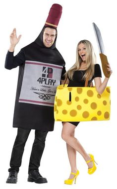 Fun World Perfectly Paired Wine and Cheese Halloween Costume Set for a Couple