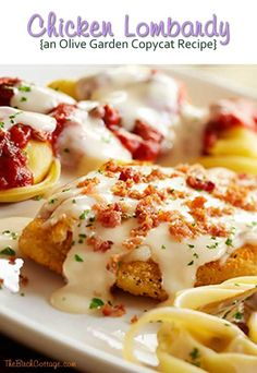 Chicken Lombardy Recipe - this looks like an amazing idea for dinner!