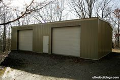"""""""It was great to work with Allied Steel. Everyone I worked with helped me through the process. They answered all my questions and helped me out with any problems that came up or anything we needed."""" -Dwight (30' x 60' Garage in TN)     #SteelBuildings #MetalBuildings #Garage #ManCave"""