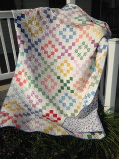 "New charity quilts are in to take a look at….These were bound by Lori. Lori writes: ""Here are pictures of the quilts that you sent me to bind. This first quilt is lovely, Evie was… Granny Square Quilt, Jelly Roll Patterns, Charm Pack Quilts, Pinwheel Quilt, Quilt Tutorials, Quilt Top, Baby Quilts, Quilt Blocks, Quilt Patterns"