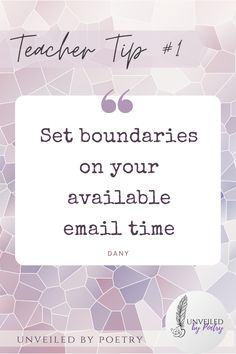 Your time is precious and people need to respect it. Treat your email time as office hours with opening and closing hours. Stick to it. No matter the urgency, the reasons, the guilt. Just because we are connected all the time with the internet, doesn't mean we are connected all.the.time ;)