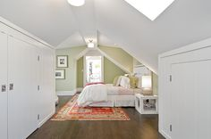 Built-in closets for sloped ceilings