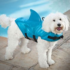 The shark fin dog life jacket is a flotation vest for your dog which makes him look like a little shark while swimming in a lake, pool, ocean, river, stream, etc... Dog can't swim? No need to keep afl...