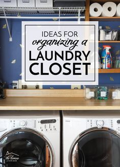 If you're looking to maximize storage and function in your laundry area, check out these easy Ideas for Organizing a Laundry Closet! Laundry Nook, Laundry Closet, Laundry Room Organization, Closet Organization, Laundry Drying, Small Laundry, Organization Ideas, No Closet Solutions, Storage Solutions