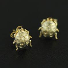 Silver Earrings – Bug earrings 925 Sterling silver stud earrings – a unique product by TO_Design on DaWanda