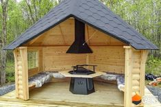 Outdoor Pavilion, Outdoor Pergola, Outdoor Rooms, Outdoor Living, Gazebo, Outdoor Fireplace Designs, Backyard Patio Designs, Backyard Projects, Backyard Landscaping