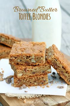 IfI really stop and think about it, I like a good blondie almost as much as I like a chewy chocolate brownie. As a chocolate fanatic, that's really saying something. Butthese blondies, ...