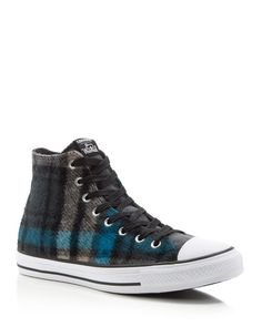 Converse Chuck Taylor All Star Woolrich Plaid High Top Sneakers