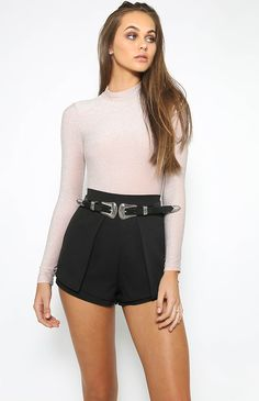 Blocked Out Bodysuit - Pink from peppermayo.com