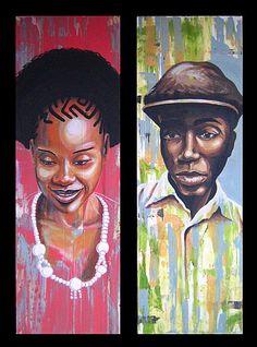 duo portrait afro