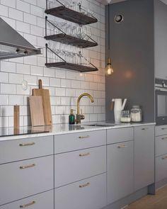 Home Interior Design, Interior And Exterior, Beautiful Interior Design, Ikea Kitchen, Kitchen Decor, Kitchen Cabinets, Grey Kitchens, Home Kitchens, Kitchen Stories