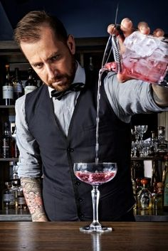 db Interview: The Talented Mr Fox - top London bartender Matt Whiley Cocktail List, Cocktail Making, Bars In Shoreditch, Bartender Uniform, Smoke Bar, Restaurant Uniforms, Whisky Bar, Exotic Food, Classic Cocktails