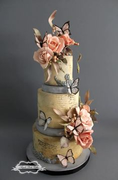 Here are some of the beautiful wedding cakes posted in the month of January! Gorgeous cakes – Congratulations to every one featured and a huge congratulations to Catalina Anghel azúcar'arte who's stunning cake was chosen for the front cover! Crazy Wedding Cakes, Beautiful Wedding Cakes, Gorgeous Cakes, Amazing Cakes, Whimsical Wedding Cakes, Fancy Cakes, Cute Cakes, Pretty Cakes, Butterfly Cakes