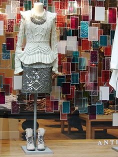 Anthropologie Display- deconstructed stained glass