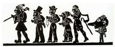 Black and white figures of the traditional Shadow Theatre of the period Shadow Theatre, Puppet Theatre, Stock Character, Shadow Puppets, Silhouette, Line Art, Darth Vader, Museum, Black And White