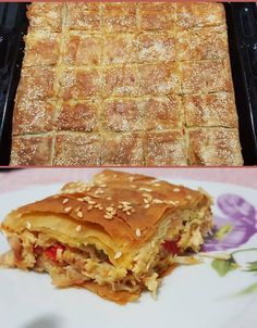"Eleni Tsoutsoudaki-Bassalou""ΟΙ ΧΡΥΣΟΧΕΡΕΣ / ΗΔΕΣ"". Υλικά 1 κοτόπουλο κομμένο 1 κυβο λαχανικών 2 κρεμμύδια 2 πιπεριές Φλωρίνης 1 πιπεριά πράσινη μεγάλη 10 φέτες μπέικον 3 αυγά 200 γρ. Ρεγκάτο τριμμένο Αλάτι Πιπέρι Πάπρικα Cookbook Recipes, Cooking Recipes, Healthy Recipes, The Kitchen Food Network, Eat Greek, Pizza Tarts, Greek Recipes, Different Recipes, Food For Thought"