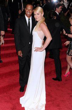 Tiger Woods y Lindsey Vonn en la alfombra roja de la gala MET 2013 en Nueva York