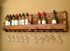 Rustic Wine Rack by SouthernPoise on Etsy