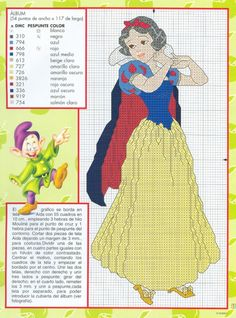 "#3 Snow White And The Seven Dwarfs - Published in ""Disney punto de cruz - Book No.1"""