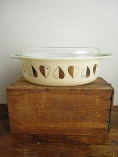 Golden Hearts Casserole Dish by ShopPilgrim on Etsy, $30.00