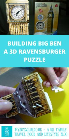 My Boys Club: Building Big Ben - a Ravensburger Puzzle Toys For Boys, Kids Toys, Children's Toys, Fun Games, Games For Kids, Ravensburger Puzzle, Indoor Play, Fine Motor Skills, Baby Toys