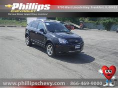 Buy a used car in Frankfort, Illinois Chevrolet Captiva Sport, Certified Pre Owned, Black Granite, Car Ins, Illinois, Chevy, Chicago, Metallic, Vehicles