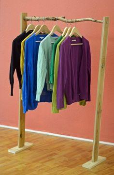 rustic DIY branch clothes hanger