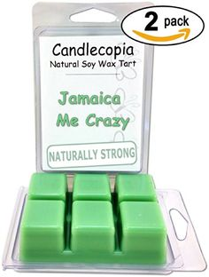 Jamaica Me Crazy 6.4 oz Scented Wax Melts - Begins with top notes of mandarin, Mexican lime, tangerine, and kumquat; middle and base notes of watermelon, tart green apples, cantaloupe, and honeydew melon - 2-Pack of naturally strong scented soy wax cubes throw 50+ hours of fragrance when melted in Scentsy®, Yankee Candle® or standard electric tart warmer Candlecopia http://www.amazon.com/dp/B00KQ6VGEM/ref=cm_sw_r_pi_dp_jPEMtb1EDNJJZZD8