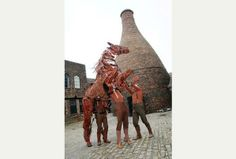 War Horse makes appearance at Longton's Gladstone Pottery Museum, Stoke-on-Trent. History Of Photography, Gladstone, Stoke On Trent, City Council, Great Love, Special Events, Bookends, Old Things, Pottery