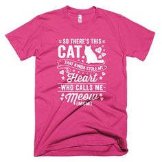 Cat Stole My Heart Short Sleeve