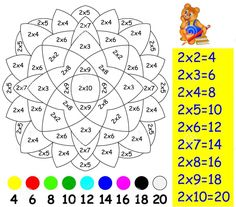 Illustration about Vector image. Developing children skills for counting and multiplication. Scale to any size without loss of resolution. Illustration of paint, color, arithmetic - 70489837 Math Games, Learning Activities, Mental Maths Worksheets, Math Charts, Color Puzzle, Math Multiplication, 2nd Grade Math, Math For Kids, Exercise For Kids