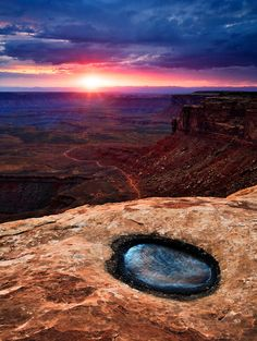 Sunset from atop Muley Point. Cedar Mesa, Utah.