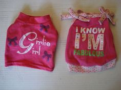 $0.99!!! So cute! Very Cute Dog Clothes Lot of 2 Shirts Size XS | eBay