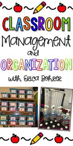 Classroom management and organization ideas!