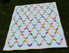 Today is my stop on the Quilted Living Blog Hop that Fat Quarter Shop is hosting and I am so excited to share my newest quilt finish for ...