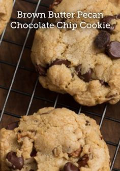Switch up your typical game day chocolate chip cookies and try these Brown  Butter Pecan Chocolate Chip Cookies. They are sure to be a hit! 867d26c3a473