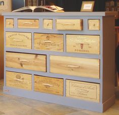 Wine Box DIY Cabinet - I want this for my Craft Supplies!