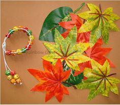 Autumn Coloured Leaves Inspired Children's Jewellery Making