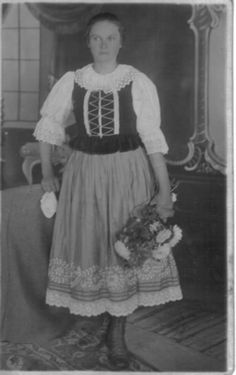 Oravský Biely Potok village, Orava region, Central Slovakia. Folk Costume, Costumes, Vintage Pictures, German, Polish, People, Collection, Fashion, Pray