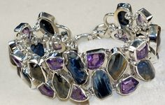Pitersite	, Amethyst Faceted  bracelet designed and created by Sizzling Silver. Please visit  www.sizzlingsilver.com. Product code: BR-8258