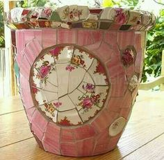 Upcycle the flowerpots