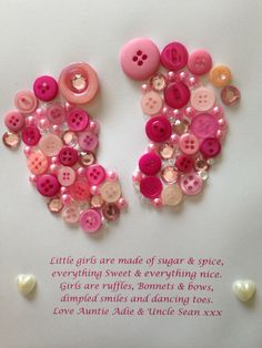 Picture made by me for a friend for a baby shower using buttons and tiny embellishments