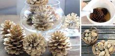 Jednoduchý návod, ako vybieliť šišky a vytvoriť tak originálne dekoračné ozdoby