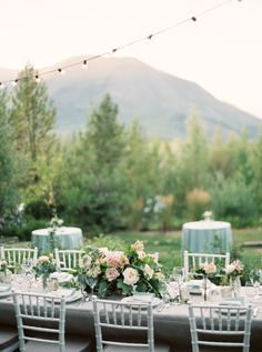 Intimate Glacier National Park wedding table decor: http://www.stylemepretty.com/little-black-book-blog/2015/12/14/intimate-mountain-wedding-in-montana/ | Photography: Orange Photographie - http://orangephotographie.com/