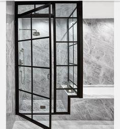 The master bathroom inside of New York penthouse / found via interiordesign.net #modetnabad #bathroom #interior