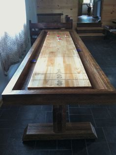 shuffle board dining room table