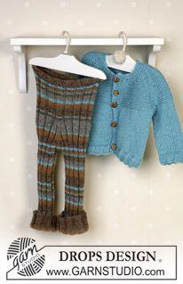 Jacket, trousers, booties and soft toy in Alpaca ~ DROPS Design