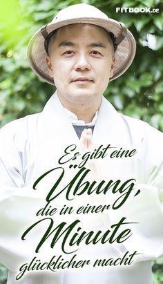 """Sie sind auf der Suche nach Glück? Dann müssen Sie 1. dringend damit aufhören, es in der Zukunft zu suchen – und 2. häufiger mal vom """"Aktivitäts-"""" in den """"Seins-Modus"""" zu wechseln. Das ist die Überzeugung eines koreanischen Star-Mönches. FITBOOK hat eine Lesung des großartigen Haemin Sunim besucht und eine einfache Übung mitgebracht, mit der man – für einen ausgedehnten Augenblick – glücklicher wird."""